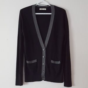 🆕️Black W/Grey Trim Cardigan